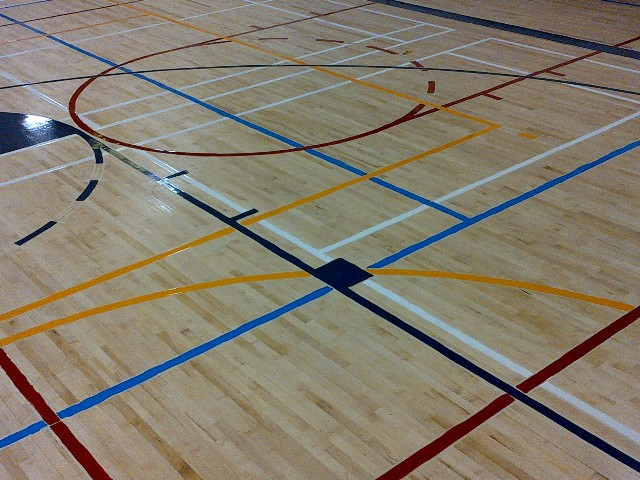 Graphic Artist Game Court Markings Game Line Painting Gym