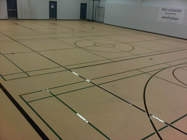 Graphic Artist Game Court Markings Line Painting Gym