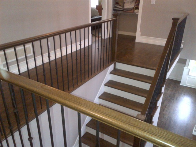 Red Oak Select Long Length Extra Grade Ramdom Bundle Hardwood Flooring And  Stairs Dark Stained Coffee