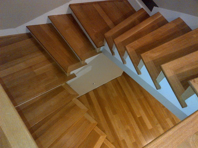 Sacred Geometry Special Select Red Oak Pre Made Stairs Solution To High Visiblity