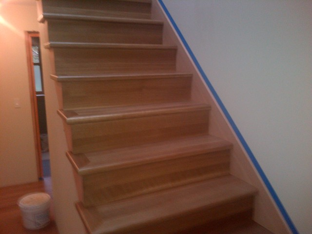 Ordinaire White Oak Craftsmen Style Stairs Featuring Glitsa Max Satin Finish