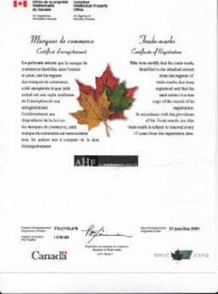Trade Mark Ahf All Hardwood Floor Ltd Trademark Canada And Our Business Incorporation